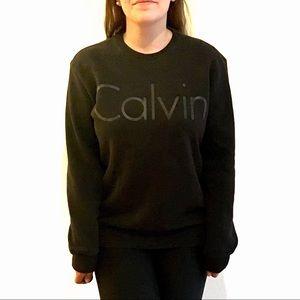 Calvin Klein Logo Crew Pullover Sweatshirt Unisex